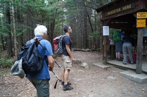 Registering at the trailhead