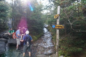 Fork to head for Wright or Algonquin Peaks
