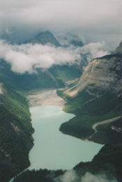 Helicopter view of Kinney Lake