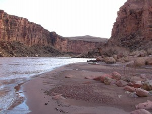 Colorado River and the beginning of the Grand Canyon