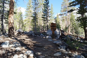 Entering John Muir Wilderness area