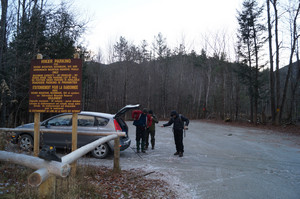 Gothics hikers parking area