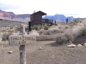 Washrooms at Tonto Trail junction