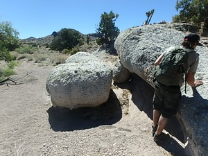 Interesting boulders carved by erosion