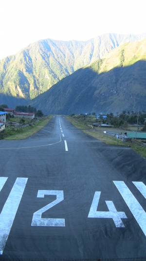 Lukla runway (why number 24? There is only one runway!)