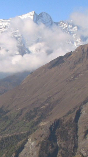 The view towards Namche