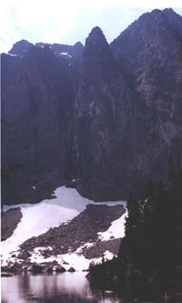 View of Lake Serene at end of trail