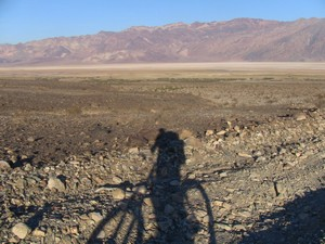 Looking back down to Badwater basin