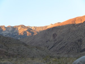 Telescope Peak peeking over the hills
