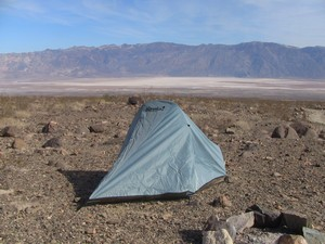 My basecamp with view of Badwater basin